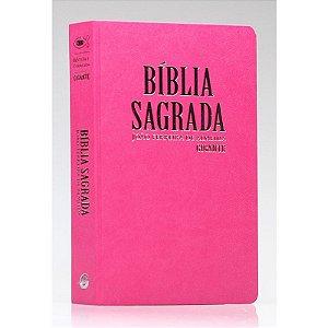 Bíblia Sagrada | RC | Letra Gigante | Com Mapas | Semi - Luxo | Rosa