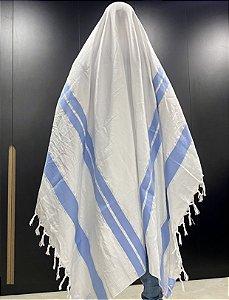 Talit Gadol Jumbo azul claro 180cmX140cm