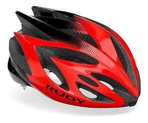 Capacete Rudy Project Rush Vermelho E Preto Brilhante