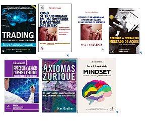 SUPER - COMBO  7 LIVROS Trading in the Zone + 4 livros de Alexander Elder + Mindiset + Axiomas de Zurique
