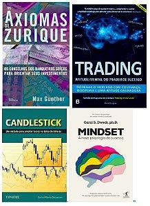 COMBO 4 LIVROS Trading in the Zone + Os Axiomas de Zurique + MINDSET + Candlestick