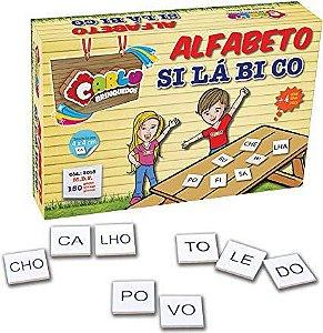 Brinquedo Pedagógico Alfabeto Silábico - Carlu Brinquedos