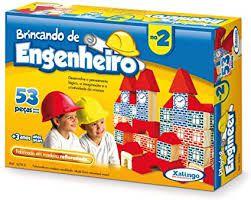 Brinquedo Brincando de Engenheiro 53 Peças - Xalingo
