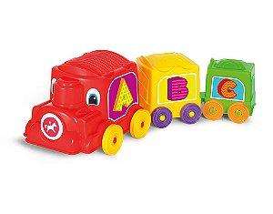 Brinquedo Educativo Locomotiva Animada - Calesita