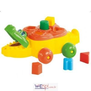 Brinquedo Educativo Jacaré C/ Blocos - Calesita