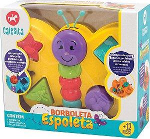 Brinquedo Borboleta Espoleta C/ Blocos - Calesita