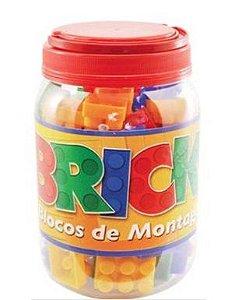 Brinquedo Bricks Blocos Montagem 56pecas Pote - Pais & Filhos