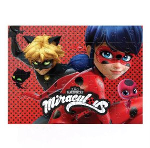 Quebra-Cabeça Cartonado Ladybug Miraculous C/60 Peças - Estrela