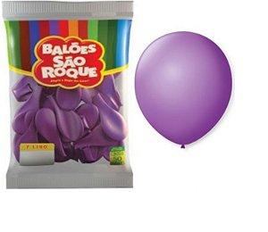 Balão 7 Liso C/ 50 Roxo Ametista - São Roque