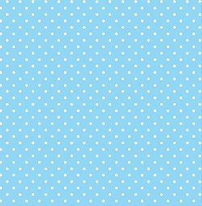 Eva Estampado Bolinhas Azul Claro 40x60 - VMP
