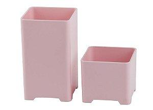 Kit Porta Objetos Rosa Pastel - Waleu