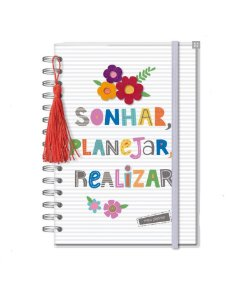 Planner Permanente M Frases Coloridas - Fina Ideia