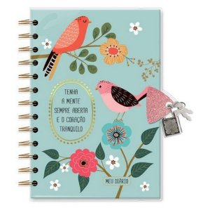 Diário Com Chave Pássaros - Fina Ideia