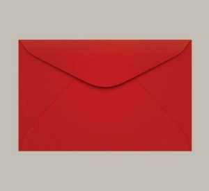 Envelope Visita Vermelho 11x8cm - Tilibra