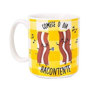 Caneca Cilíndrica Love Bacontente - Uatt
