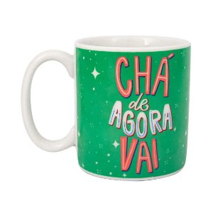 Caneca Cilíndrica Love Chá de Agora Vai - Uatt
