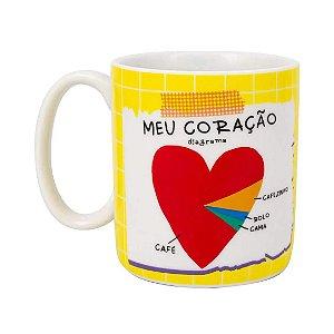 Caneca Cilíndrica Love Meu Coração - Uatt