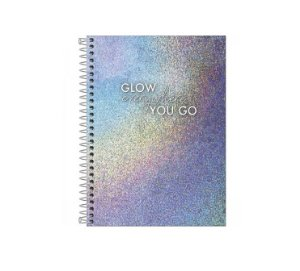 Caderno Colegial Glow 1 Matéria - Tilibra
