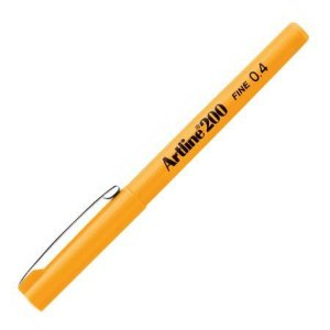Caneta 0.4mm Ek-200 Amarelo - Tilibra