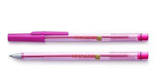 Caneta Esferografica 0,7mm Pink  - Compactor