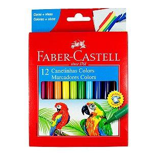 Canetinha Hidrografica Regular 12 Cores - Faber-Castell