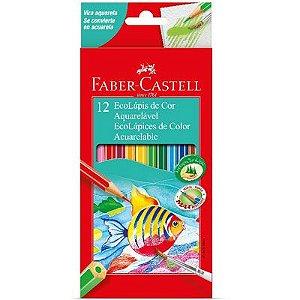 Lápis De Cor Aquarelável 12 Cores Faber-Castell