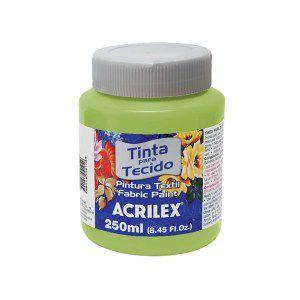 Tinta Tecido Fosca 250ml  Verde Kiwi - Acrilex