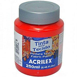Tinta Tecido Fosca 250ml Vermelho Natal - Acrilex