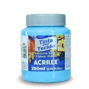 Tinta Tecido Fosca 250ml  Azul Bebe - Acrilex