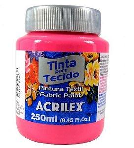 Tinta Tecido Fosca 250ml  Rosa Ciclame -Acrilex
