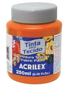 Tinta Tecido Fosca 250ml Laranja - Acrilex