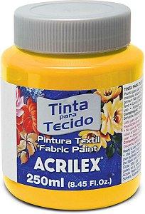 Tinta Tecido Fosca 250ml  Amarelo Ouro - Acrilex