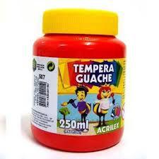 Tinta Guache 250ml Vermelho Fogo - Acrilex