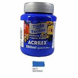 Tinta Tecido Fosca 250ml Azul Turquesa - Acrilex