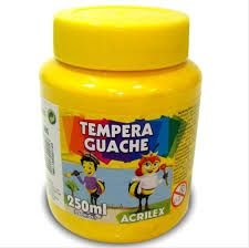 Tinta Guache 250ml Amarelo - Acrilex