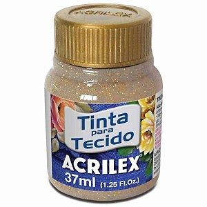 Tinta Tecido Glitter Ouro 37ml - Acrilex