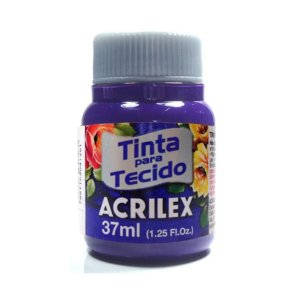 Tinta Tecido Fosca Violeta 37ml - Acrilex