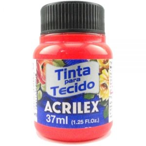 Tinta Tecido Fluor 37ml Vermelho - Acrilex