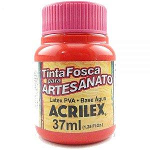 Tinta Fosca PVA Artesanato Vermelho Vivo 37ml - Acrilex