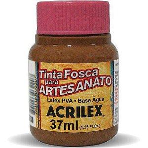 Tinta Fosca PVA Artesanato Marrom 37ml - Acrilex