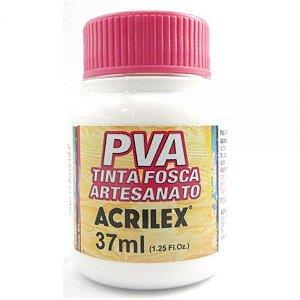 Tinta Fosca PVA Artesanato Branco 37ml - Acrilex