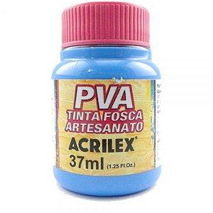 Tinta Fosca PVA Artesanato Azul  Celeste 37ml  - Acrilex