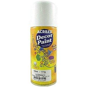 Tinta Em Spray Decor Paint Branco - Acrilex