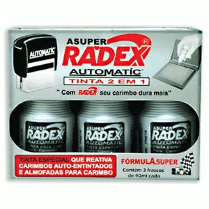 Tinta Para Carimbo Automatic Preto 40ml - Radex