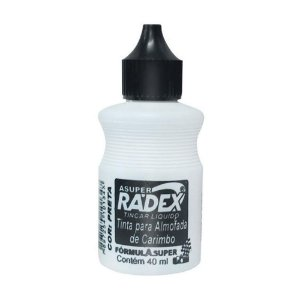 Tinta Para Carimbo 40ml Preto - Radex
