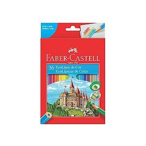 Lapis De Cor Sextavado Ecolapis 36 Cores - Faber Castell