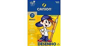Bloco de Desenho Branco Infantil 20fls A4 140g - Canson