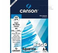 Bloco Para Aquarela Universitário 12fls A4 300g - Canson