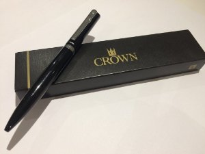 Caneta Esferográfica Platinum Preto- Crown