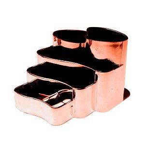 Porta Canetas Metalizado Rose Gold - Dello